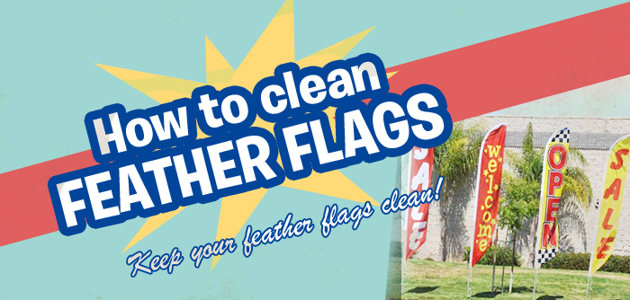 how to clean feather flags