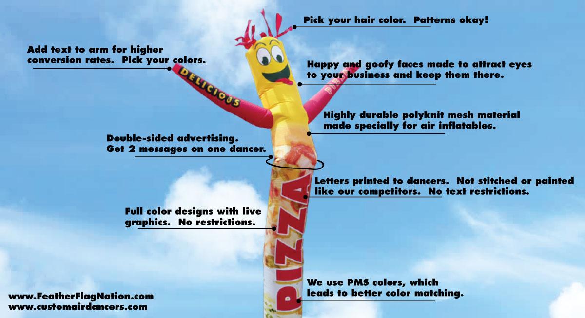 Custom Inflatable Tube Man Air Powered Dancer