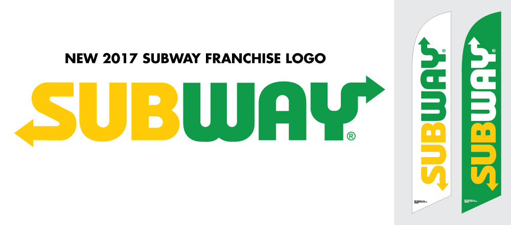 New Subway Logo Feather Flags