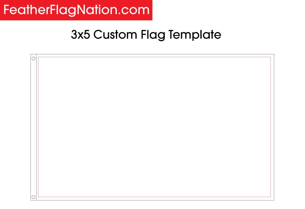 3x5 Custom Flag Template