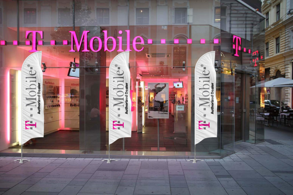 t mobile feather flag