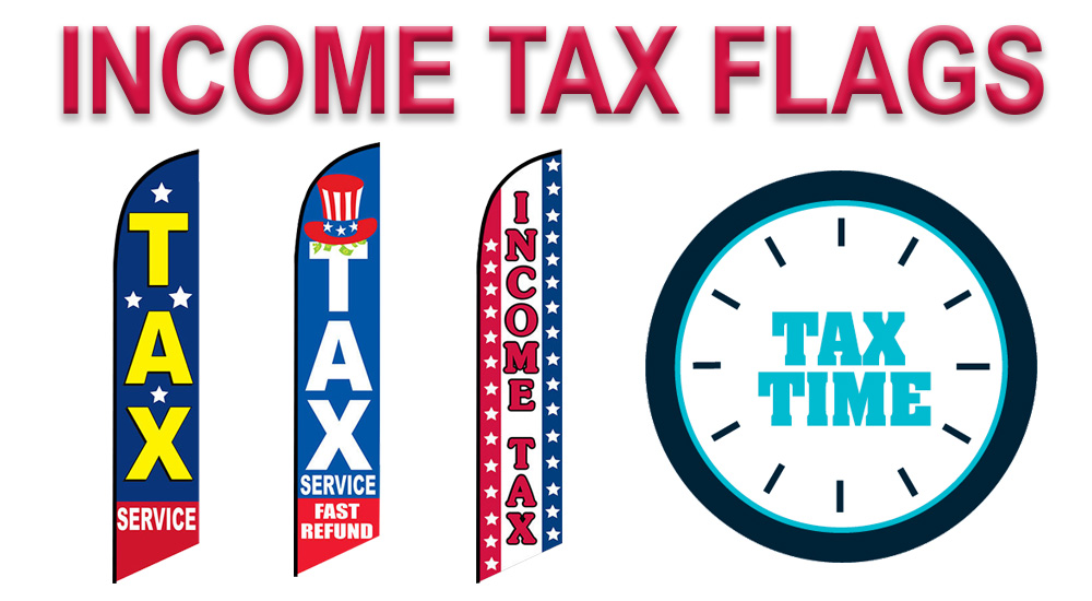 income tax feather flags