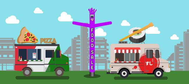 Air dancer food truck