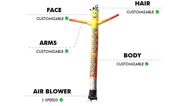 Custom-Air-Inflatable-Tube-Man