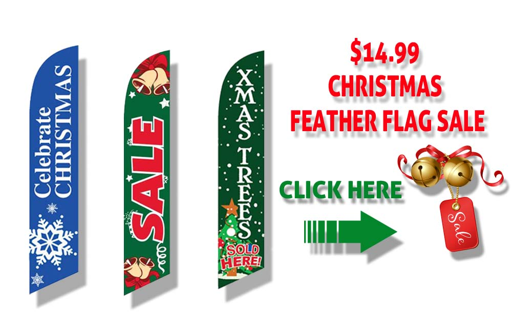 christmas sale feather flags