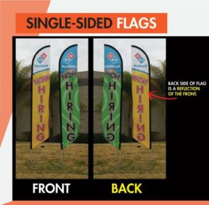 Single Sided Feather Flags