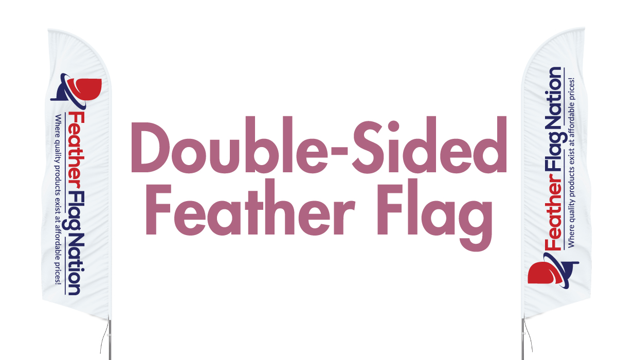 double sided custom feather flags