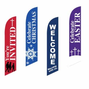 church feather flags for church worship flags god