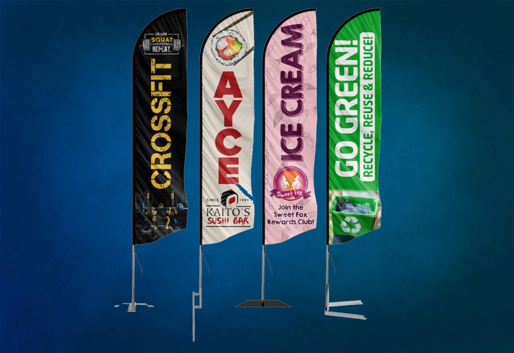 custom feather swooper flags banner flags