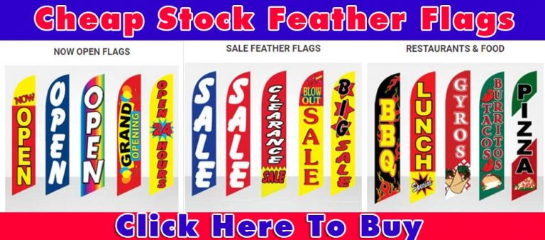 stock-feather flags-open-sale-restaurant-banner
