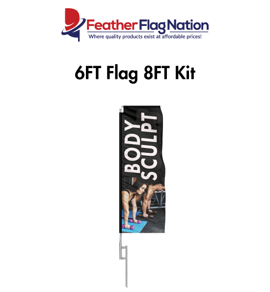 6ft Rectangle Flags for Gyms