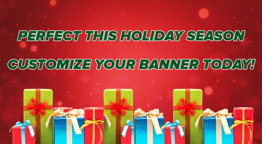 perfect this holiday season customize your banner