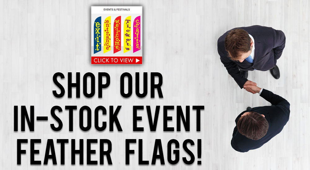 shop in-stock event feather flags