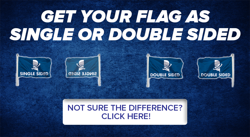 single or double sided custom flags