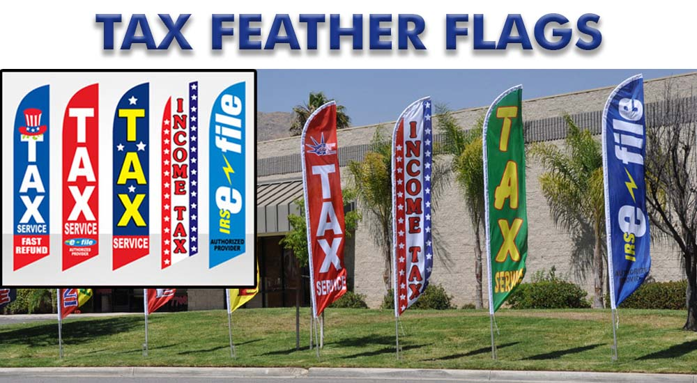 tax feather flags