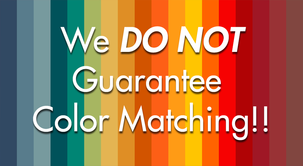we do not guarantee color matching