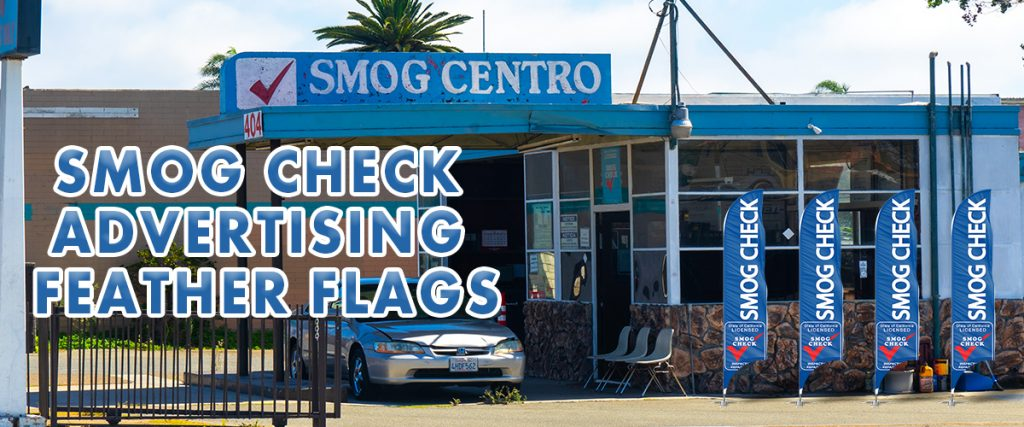 Smog Check-Advertising-Feather-Flags