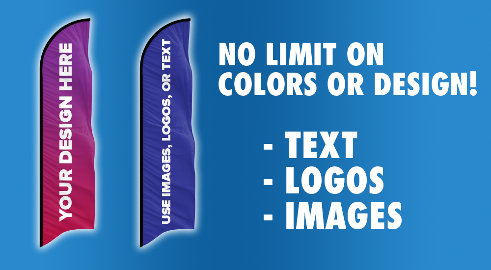no limits on colors or design