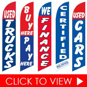 In-Stock Feather Flag Click to View - Auto Shop