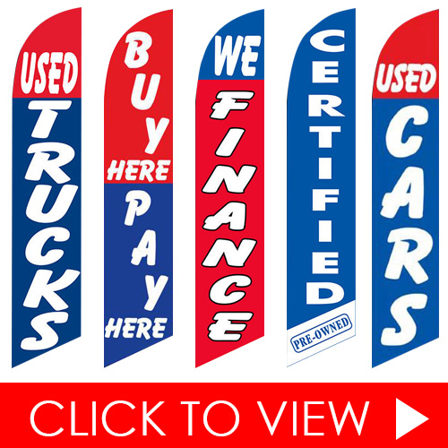 In-Stock Feather Flags Click to View - Auto Shop
