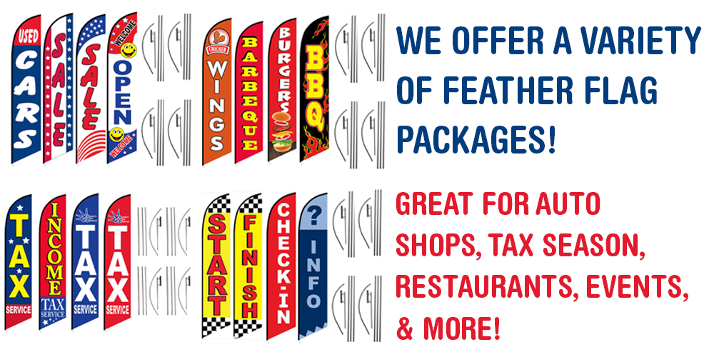 Variety of Feather Flag Packages to Choose From