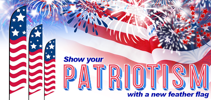 show your patriotism with a new feather flag