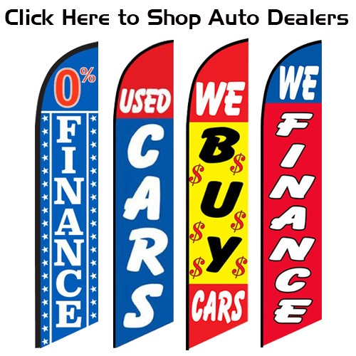 click here to shop auto dealers feather flag