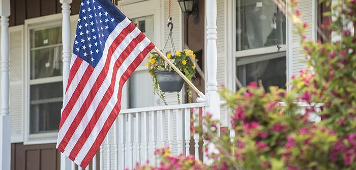 3x5 American Flag on Porch
