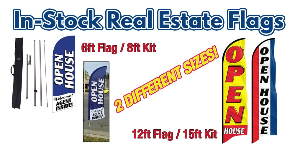 In-Stock Real Estate Flags