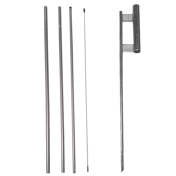fiberglass pole kit with ground spike