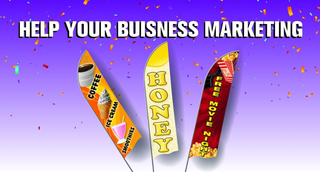 Business marketing Feather Flag Nation