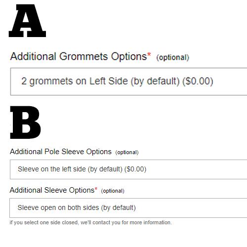 Grommet & Pole Sleeve Position