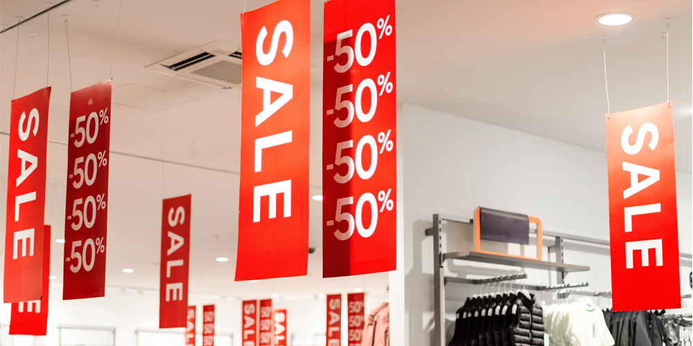 Indoor Banners in a Store