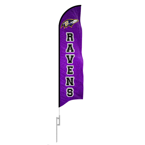 Ravens Feather Flag Mock Up