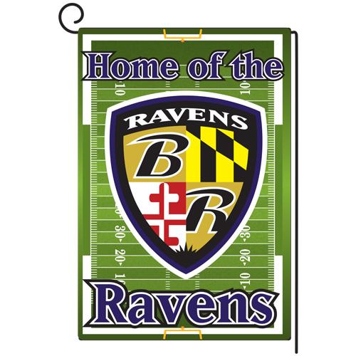 Ravens Garden Flag Mock Up