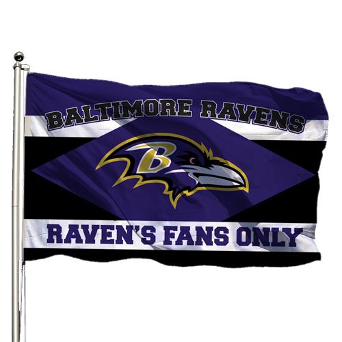 Ravens Standard Flag Mock Up