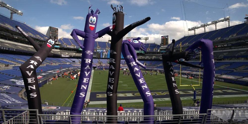 Ravens Tube Men at the Stadium