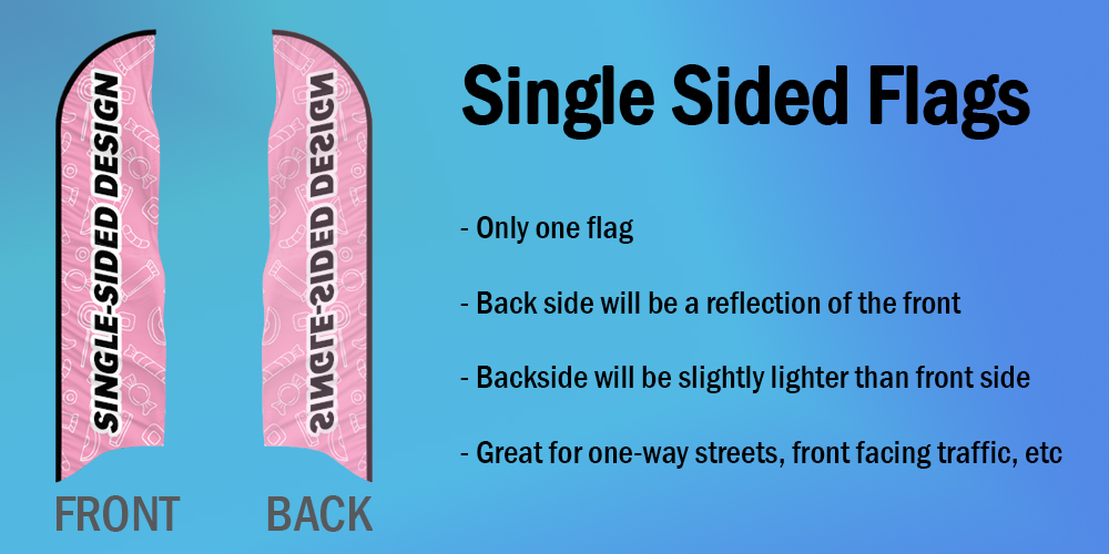 Single Sided Flags
