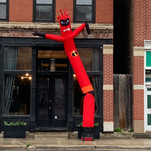 custom inflatable birthday party Incredibles tube man