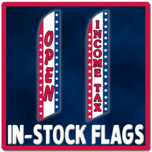 income tax service feather flags