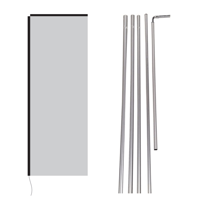 rectangle flag with poles 1
