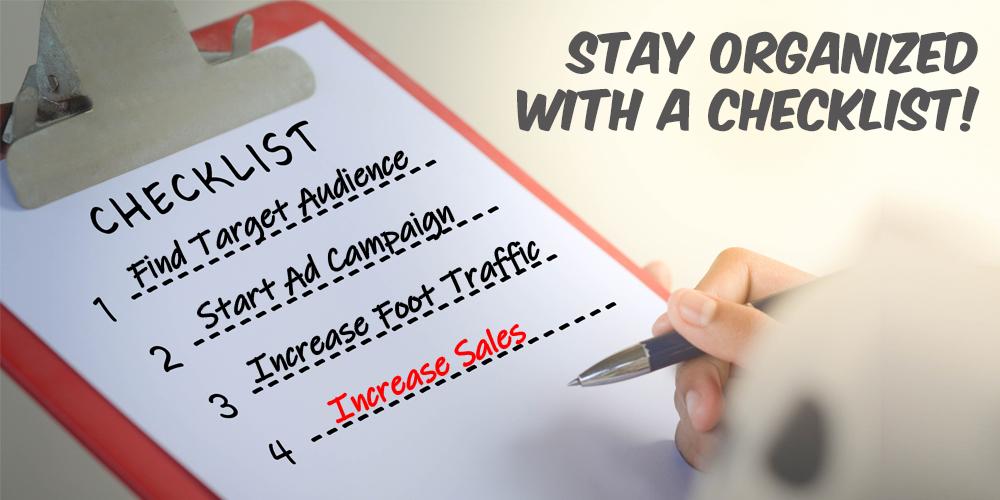 simple advertising checklist