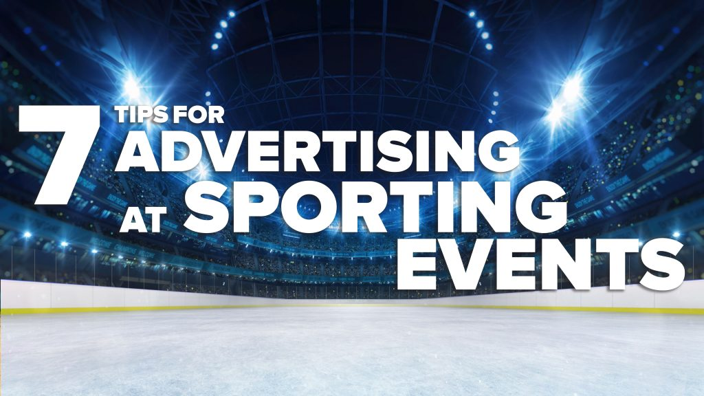 sporting event advertising flag