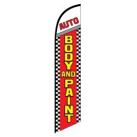 Auto Body and Paint Feather Flag