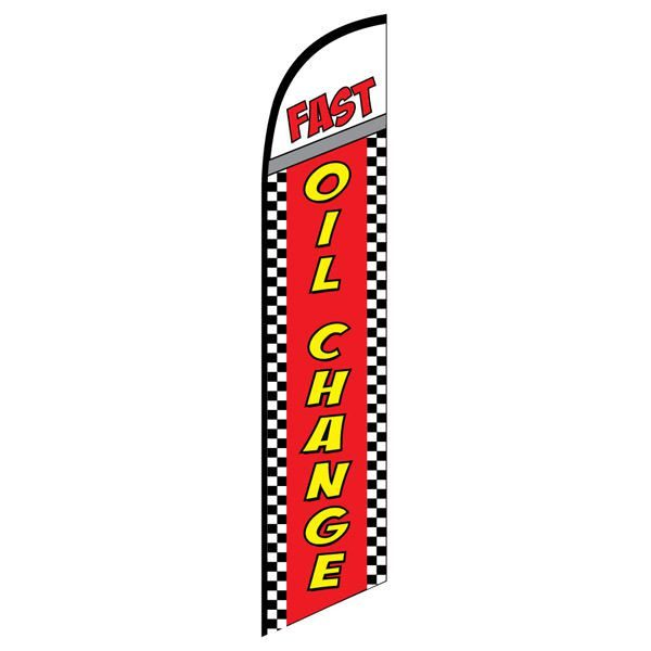 Fast Oil Change Advertising Flag for your outdoor advertising needs.
