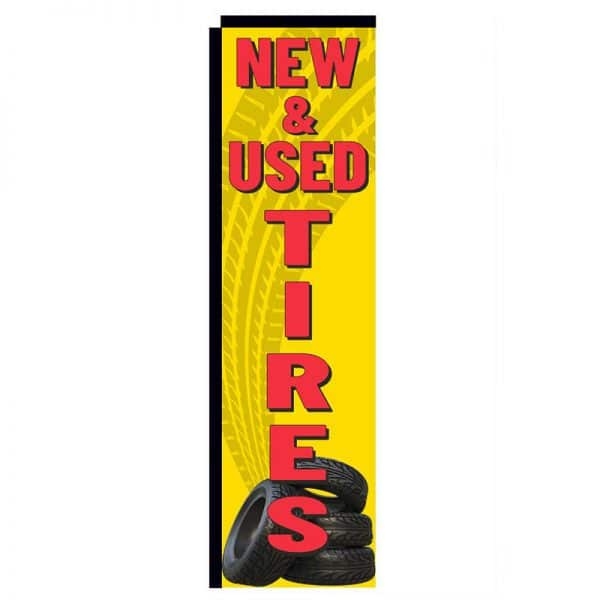 new & used tires rectangle flag ffn-312ns10163