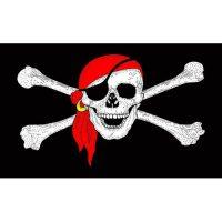 Red Bandana Pirate Flag
