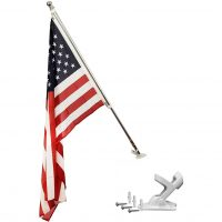 3×5 Tangle-Free Flag Pole and Mount, Premium Aluminum Telescopic Pole, Compatible with 2×3′ Custom Flags