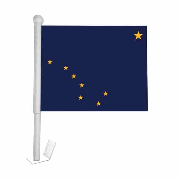 Alaska State Car Flag