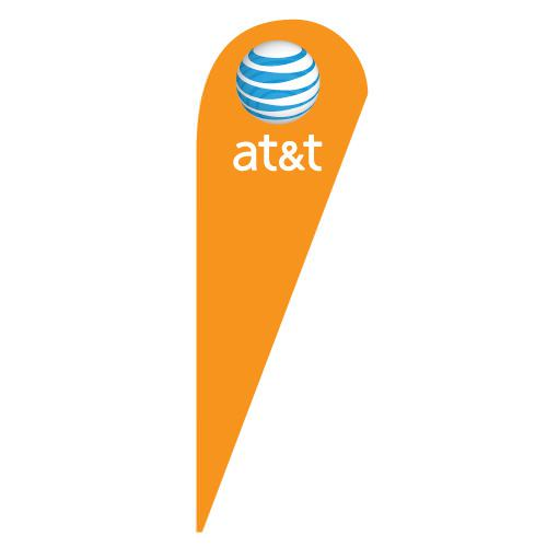 At T Wireless Teardrop Flag For Carriers Boost Sales Now